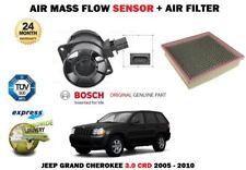 FOR JEEP GRAND CHEROKEE 3.0 CRD 2005-2010 NEW AIR MASS FLOW SENSOR + AIR FILTER