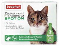 Beaphar Zecken-& Flohschutz SPOT-ON für Katzen Flöhe Katze Zecke Spot On Katze