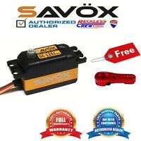 Savox SC-1251MG High Speed Low Profile Servo + Free Aluminium servo horn Red