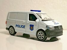 🚓 WELLY NEX Scale Model 1:60 1/60 BOX VOLKSWAGEN TRANSPORTER T6 VAN POLICE CAR