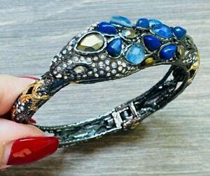 Alexis Bittar NEW Authentic Snake Serpent Lapis Laxuli Bangle Bracelet