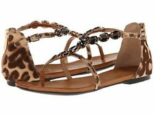 Women's Animal Print Buckle Sandals and Flip Flops