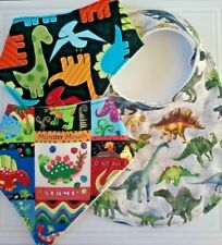 Dinosaur Fabrics Toddler Child Baby Dribble Bibs Bandanas