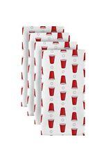 """Beer Pong Red Cups 18"""" x 18"""" Napkins 1 Dozen"""