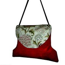 William Morris Cray  Plush Velvet Weekend Carpet Bag Unique Stylish Fashionable