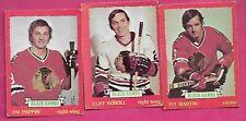 1973-74 OPC CHICAGO BLACK HAWKS CARD LOT (INV# C2890)