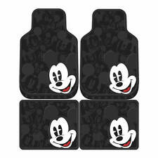 4 Piece Mickey Mouse Expressions Front Rear Rubber Floor Mats Set