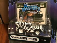 1942 Jeep military vehicle zebra paint    Muscle Machine BLOWER funline1:64