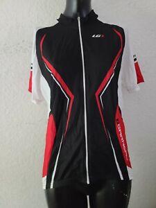 Louis Garneau LG Mens XL Red Black Cycling Riding Bike Jersey