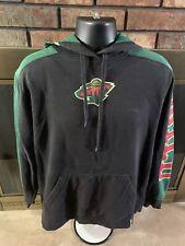 Minnesota Wild NHL Hockey Reebok Hooded Sweatshirt Jersey Mens Size Medium Green
