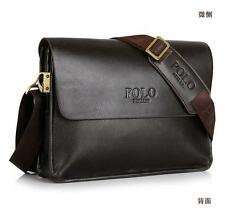 business Men leather crossbody shouder book bag handbag messenger ipad bag