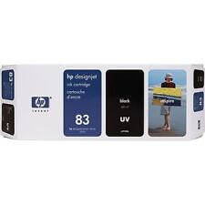 HP DESIGNJET 83 C4940A BLACK UV DESIGNJET INK CARTRIDGE GENUINE 5500 5000 NEW