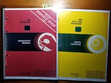 John Deere 580 Windrower Owner Operator Manual Om-W21454 G8 7/78 + Parts Pc-1697