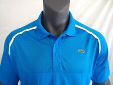 Lacoste SPORT Blue Men's Ultra Dry Mesh Jersey Athletic Polo Shirt NWT Size 3XL