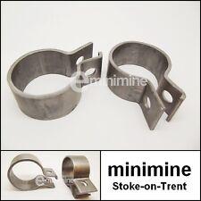 Classic Mini Universal Exhaust Steel Clamp PAIR 49mm car manifold