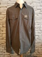 "Superdry Men's Grey Long Sleeve Shirt Size XL suit Large 42"""