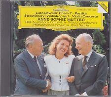 Mutter LUTOSLAWSKI/STRAVINSKY - DG 423 696-2 W.Germany Full Silver No IFPI