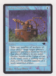 Drafna's Restoration Misprint Crimped Error Card MTG Great Condition Antiquities