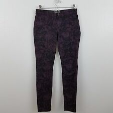 CAbi #159 Twilight Jegging Skinny Purple Stretch Camo Print Jean Pant 0 splatter
