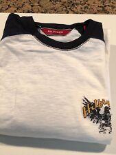 Hilfiger - Red Label Denim T Shirt  - White/Black, Short Sleeve, Size M