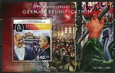 SOLOMON ISLANDS 2015 25th ANNIVERSARY RE-UNIFICATION OF GERMANY  S/SHEET MINT NH