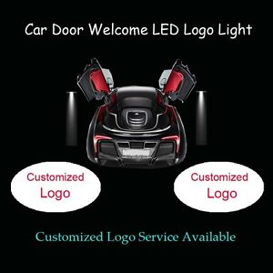 2x Customized Logo Car Door Welcome Laser Projector Ghost Shadow LED Logo Light