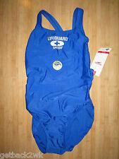 NEW Speedo ATHLETIC Swimsuit RACING BLUE $66 6 32 Lifeguard