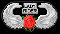 Lady Rider Wing brodé patche Thermocollant iron-on patch