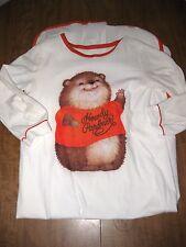 SHIRT TALES Chipmunk vtg girls nightgown size 14 Hallmark 1981 Critter Sitters