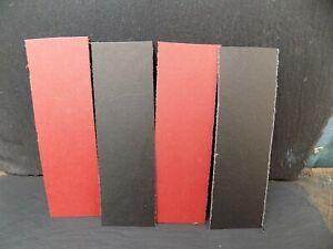 2PAIRS RED/BLACK VULCANIZED LINERS FOR KNIFE HANDLES KNIFE MAKING HANDMADEKNIFE