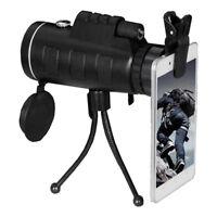 40X60 Zoom Optical HD Lens Monocular Telescope+ Tripod+ Clip For SmartPhone