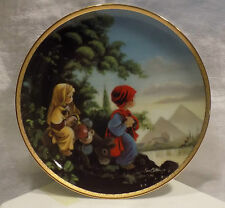 Precious Moments Plate The Hamilton Collection The Flight Into Egypt Bible Story