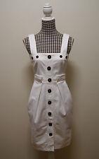 COUNTRY ROAD DRESS WHITE SHEATH DRESS, Sz 8 (#0972)