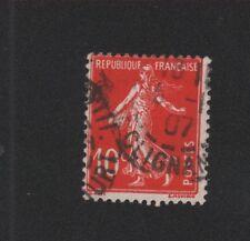 Timbre N° 138c, 10 c Semeuse écarlate oblitéré