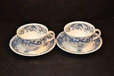 Villeroy & Boch Valeria Blue Flat Cup and Saucer Set of 2