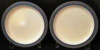 """Mikasa Aztec Blue Salad Plates 8 1/4"""" CB009 Potters Touch Set of 2 Excellent"""