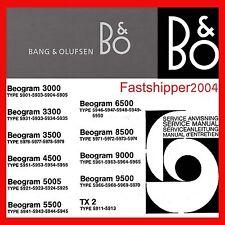 Large Collection Bang & Olufsen Lot Service Repair Manuals B&O Schematics B+O CD
