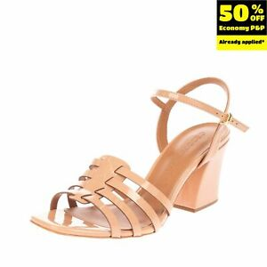 RRP €125 CECCONELLO Ankle Strap Sandals Size 38 UK 5 US 8 Flare Heel Strappy