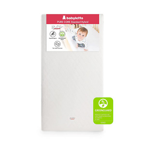Babyletto Pure Core Crib Mattress with Hybrid Waterproof Cover, Greenguard Gold