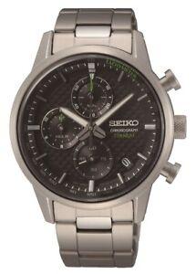 Seiko Gents Titanium Chronograph Watch SSB389P1 NEW