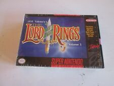 The Lord of the Rings, Vol. 1 (Super Nintendo). Complete. Excellent Shape. SNES