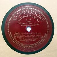 EDDIE CONDON BUD FREEMAN California Here I Come/Sunday COMMODORE 515 E/E+ HEAR