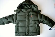 NWT Polo Ralph Lauren down Jacket 4T 4 year boy winter coat olive green