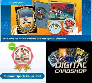 Topps Disney Collect Summer Sports Collection Feats, Badge, Sunrise +++ 59 Cards