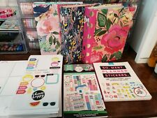Huge Happy Planner Sticker Sheet Book Lot Storage Mini Binders Floral Planner