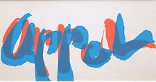 "KAREL APPEL mounted lithograph signature, 1965, 12 x 10"", COBRA art brut KA5"
