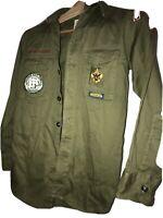 Vtg 50s BSA Sanforized Shirt Order Of Arrow Yosemite PATCH Sonora Ca Troop 65
