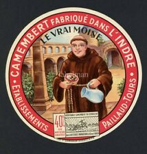 Original French Camembert Cheese Label, Monk, 157