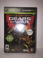 Gears of War (Microsoft Xbox 360, 2006) Platinum Hits 2-Disc CIB Tested