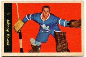 1960-61 Parkhurst Johnny Bower Card #3 Toronto Maple Leafs
